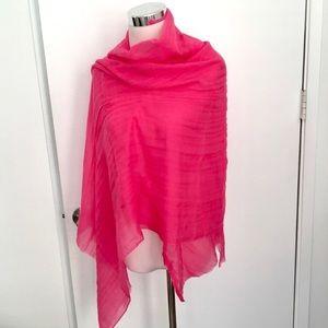 Brand new Lanvin X H&M pink wool scarf wraps shawl